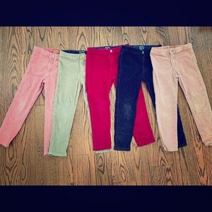 5 pairs girls corduroy pants bundle